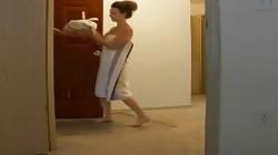 Oops towel fell!