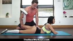 TeamSkeet- Sexy Workout Guru Gets Thick With Dick