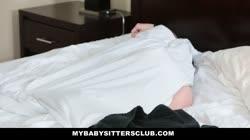MyBabySittersClub - Horny Blonde Babysitter Fucks Older Boss